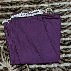 Women's Scarf/Shawl/Wrap/Hijab Purple with trim